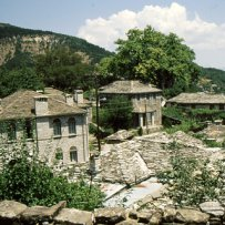 320 x 320: GREECE - EPIRUS - PAPIGO - TRADITIONAL HOUSES