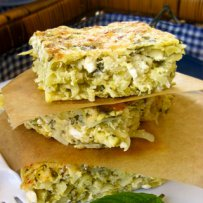 320 x 320: FOOD - GREECE - BAKED OMELETTE (SFOUGGATO) WITH ZUCCHINI,  POTATOES AND FENNEL