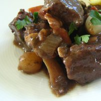 beef rabout, patatoes, delicious meat meal