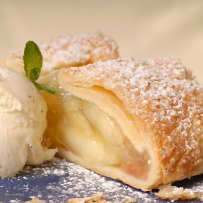 cheese,desserts,ricota,sweets, custard strudel