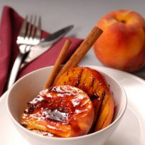 DESSERT - BAKED CINNAMON PEACHES