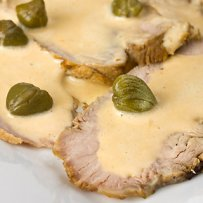 320 x 320: FOOD - ITALY - PORK WITH TUNA SAUCE (VITELLO TONNATO)