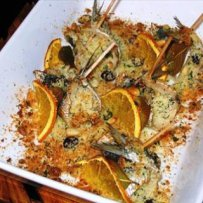 STUFFED ANCHOVIES WITH ORANGE