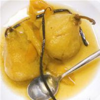 210 x 210: FOOD - DESSERT - BOILED PEARS