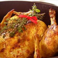 210 x 210: FOOD - ROAST CHICKEN WITH FRESH HERBS