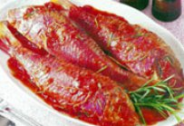 Grilled Stuffed Red Mullet (Barbounia Yemista)