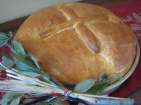 Serbian Christmas Bread (Cesnica)