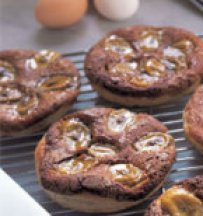 Banana - Chestnut Tartlets with Puff Pastry