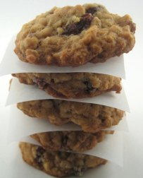 Chocolate Cookies with Walnuts and Raisins