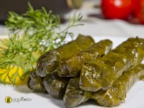 Stuffed vine leaves with rice and aromatic herbs - Dolmades