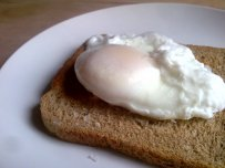 eggs, poached, benedict, rusk, greek yoghurt