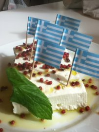 Feta cheese, The Flag of Greek Foodies