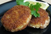 Salmon Croquettes and Camembert