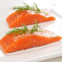 Salmon Rolls with Raisins and Celery