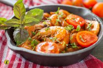 Prawns with Tomato and Basil Pesto