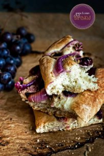 Grape & Onion Bread {with fennel and poppy seeds}