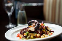Octopus with Chickpea Salad