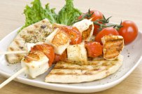 Tomatoes with Haloumi Cheese
