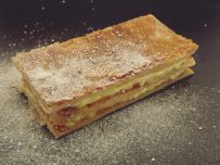 Millefeuille with Mandarine and Mastic Sauce