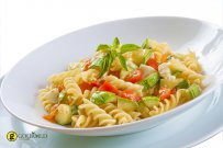 Fusilli with Zucchini and Ham