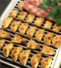 Samsa - delicious little pies - samosas - spinach -coriander