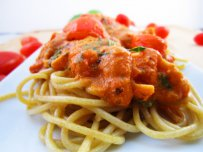 Spaghetti with Smoked Fish