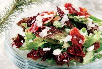 Green Salad with Asparagus and Crispy Prosciuto