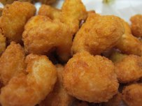 Battered Fried Shrimp and Sun Dried Tomato Cream