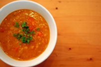 hearty, red lentil, burghul, soup, turkey