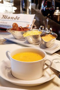 Mediterranean Fish Soup with Rouille and Croutons