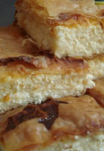 traditional greek cuisine, tyropita, cheese pie phyllo, breakfast, goat cheese