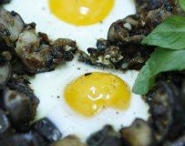 Eggs with Aubergine