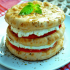 Tomato mille-feuille with Mozzarella cheese & Arabic bread
