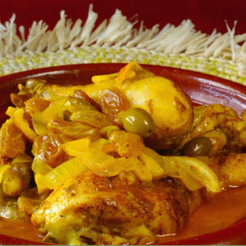 320 x 320: FOOD - ISRAEL - CHICKEN  WITH OLIVES AND ORANGE (CHICKEN A LA SABRA)