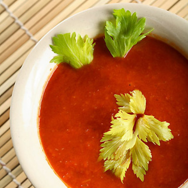 cold tomato soup, typical spanish cuizine, andalusian food