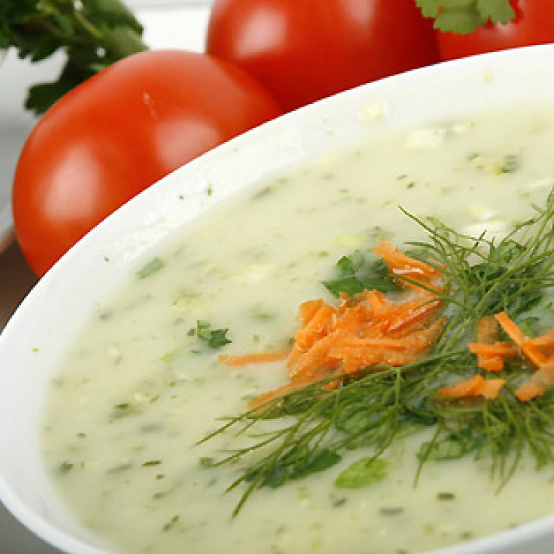 FOOD - WHITE SOUP AND HERBS