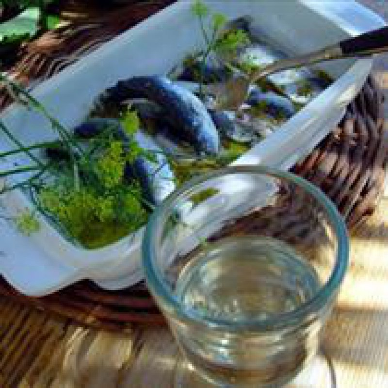 ANCHOVIES MARINATED WITH LEMON, GARLIC AND FENNEL