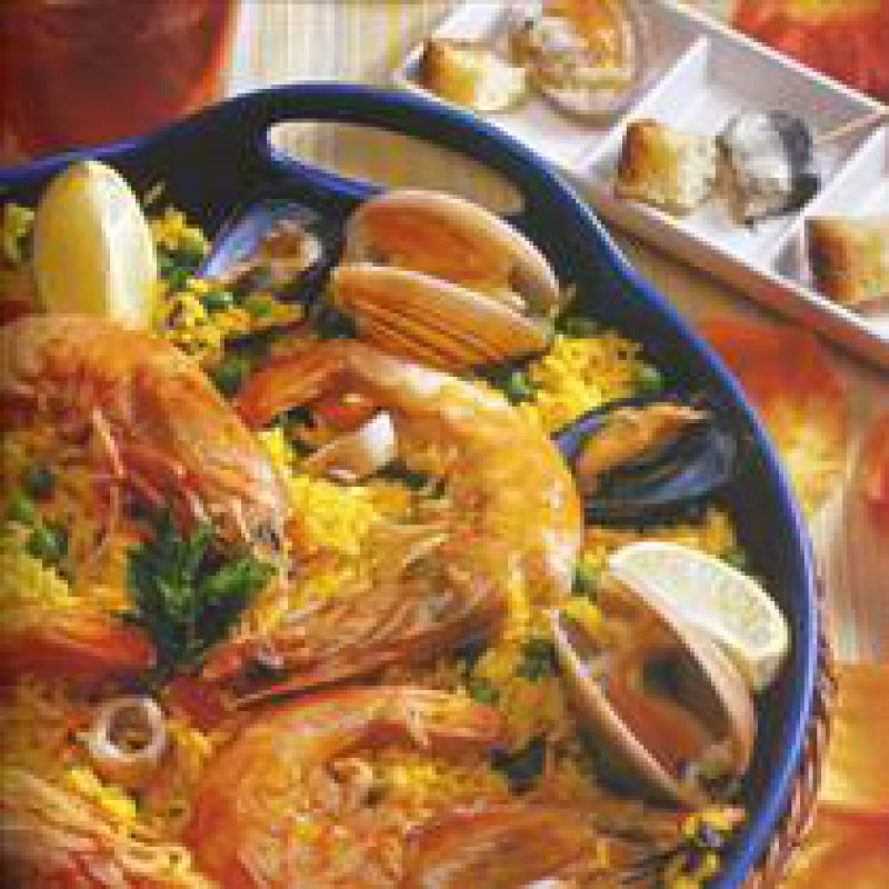 210 x 210: FOOD - SPAIN - SEAFOOD PAELLA