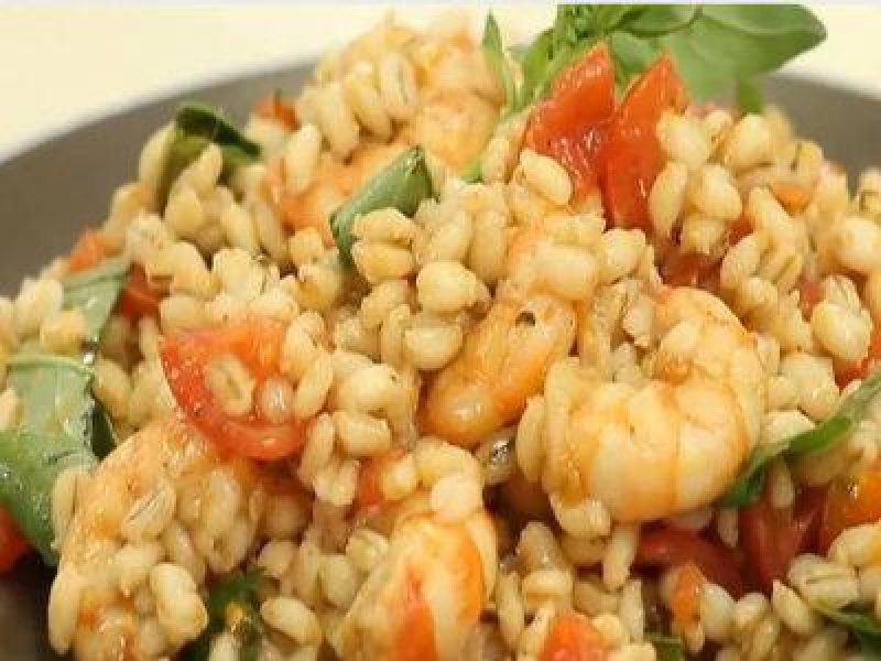 barley,  seafood, vegetables, healthy food, easy to do meals, quick food
