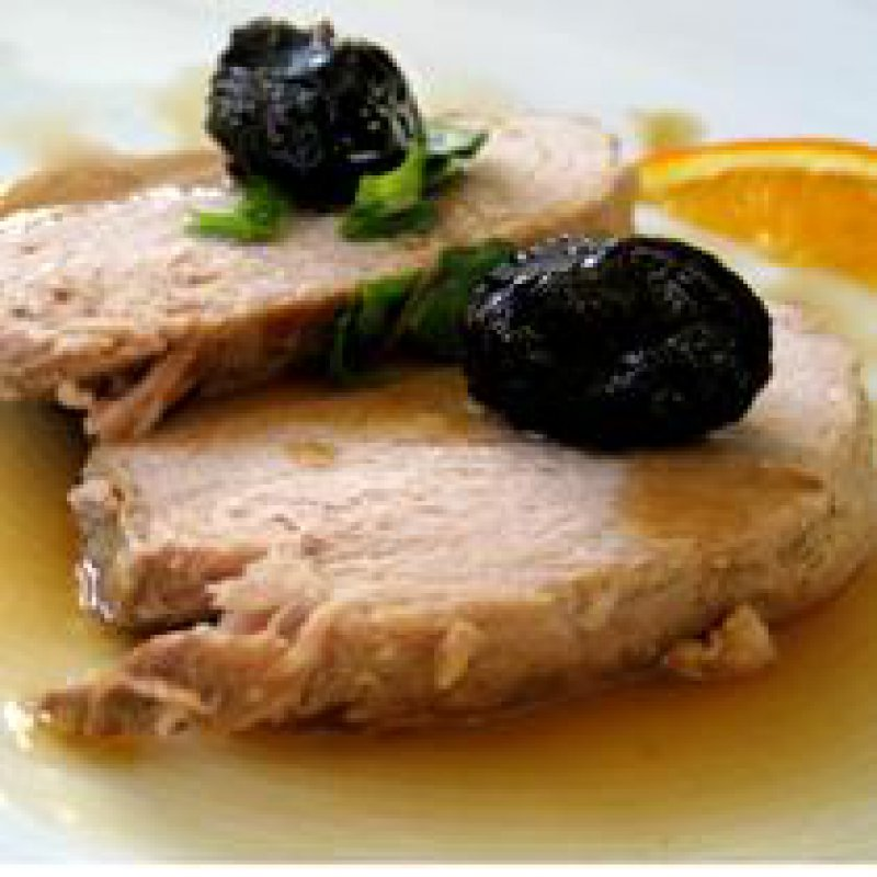 pork with orange,dinner party,meat with oranges