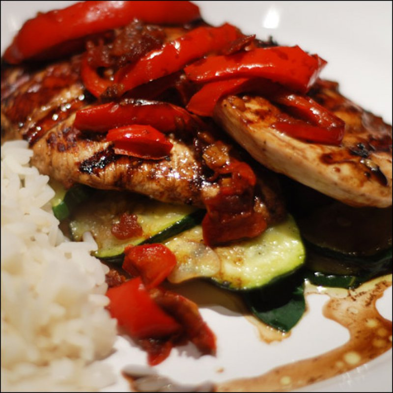 Chicken with Balsamic Vinegar and Vegetables