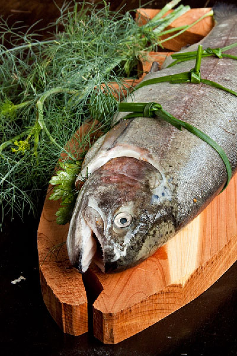 Stuffed Trout with Herbs