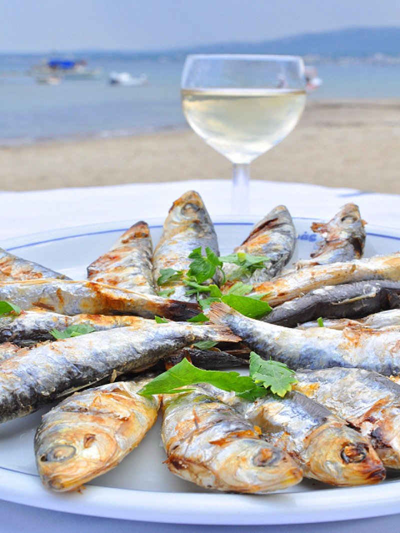 Grilled Sardines with Broad Bean Salad