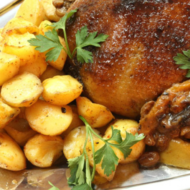 Chicken Stuffed with Katiki and Cappers