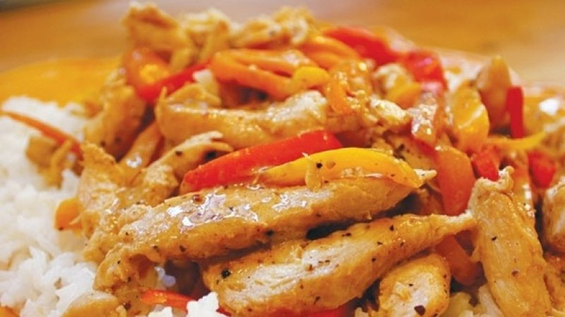 chicken with peppers and cream
