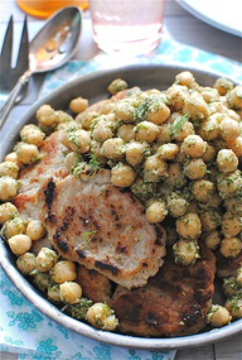Christmas Pork with Chestnuts, Legumes and Spices from Lesvos