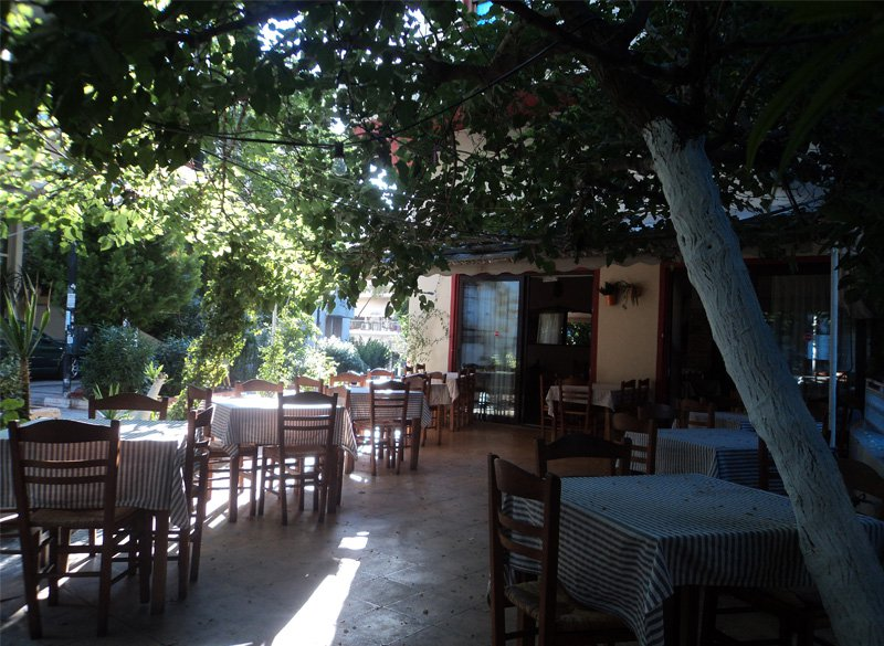 Stavros' ouzo place: urban green at its best