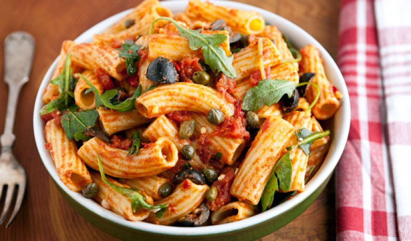Penne with Anchovies and Garlic
