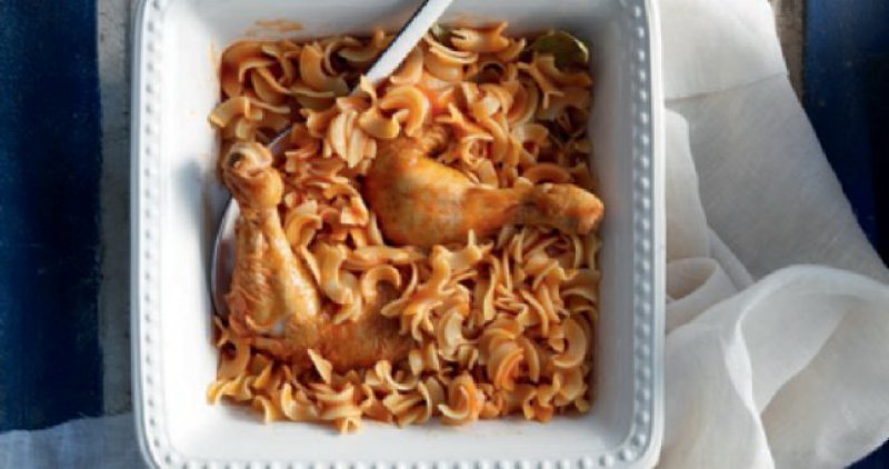 Rooster with Pasta