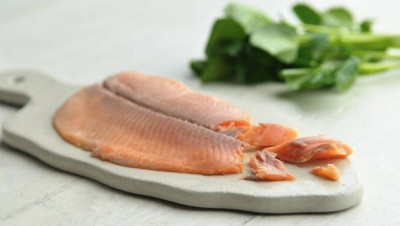 Smoked Trout in Dill and Scallion Marinade